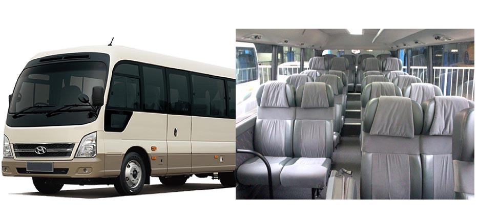 Bus 29 seats rental